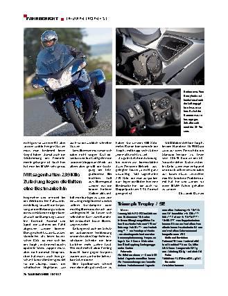 Fahrbericht: Triumph Trophy SE