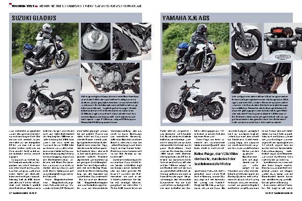 Vergleichstest: Honda NC 700 S, Kawasaki ER-6n, Suzuki Gladius, Yamaha XJ6 ABS