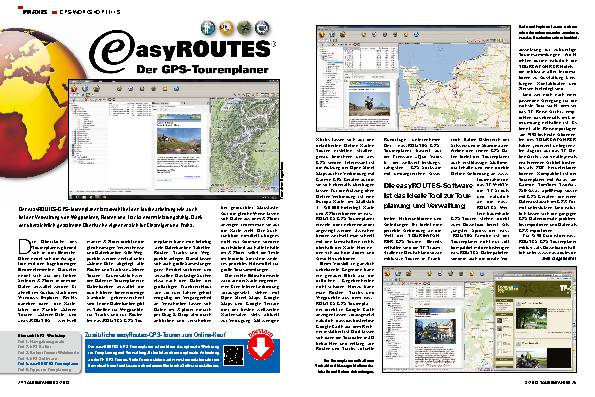 GPS-Workshop, Teil 5: easyROUTES