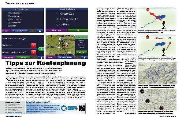 Tipps zur Routenplanung