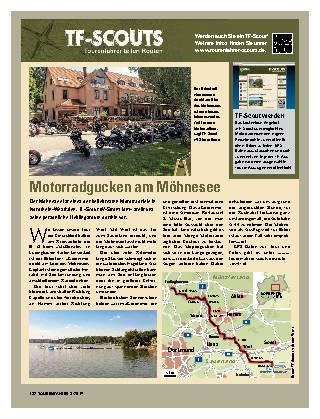 Motorradgucken am Möhnesee