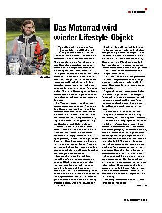 Das Motorrad wird wieder Lifestyle-Objekt