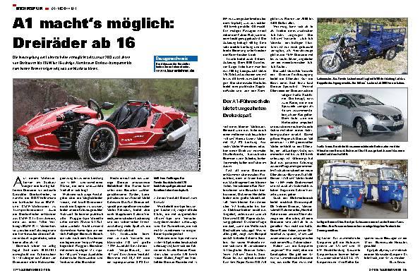 A1 macht's möglich: Dreiräder ab 16