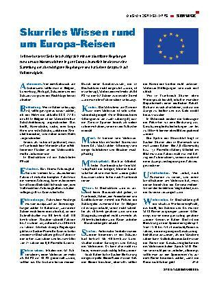 Skurriles Wissen rund um Europa-Reisen
