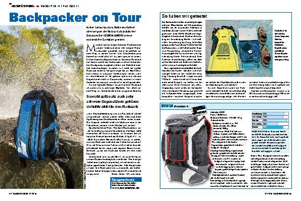Backpacker on Tour