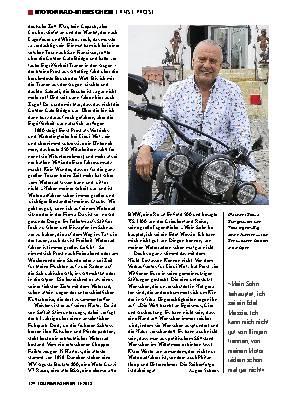 »Motorradfahren ist 'ne Art gesunde Droge«