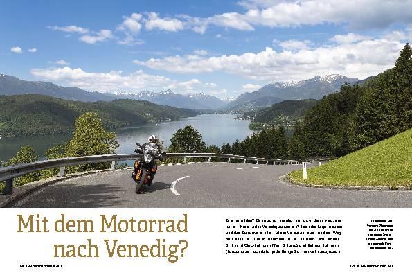 Mit dem Motorrad nach Venedig?